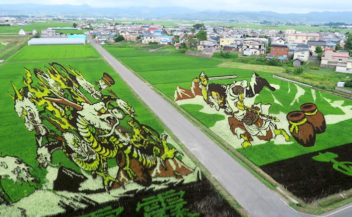 今年の青森県田舎館村の「田んぼアート」が本気出しすぎ